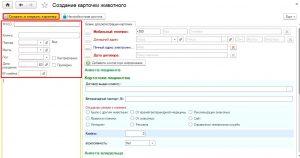 Рис. 2 Заполняем информацией бланк регистрации карточки