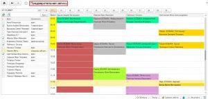 Рис.1 Выбор даты для просмотра запланированных приемов